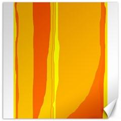 Yellow and orange lines Canvas 20  x 20