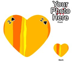 Yellow and orange lines Playing Cards 54 (Heart)