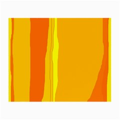 Yellow and orange lines Small Glasses Cloth (2-Side)