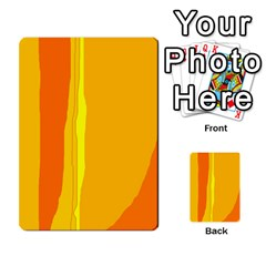 Yellow and orange lines Multi-purpose Cards (Rectangle)
