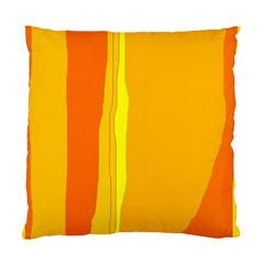 Yellow and orange lines Standard Cushion Case (Two Sides)