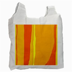 Yellow and orange lines Recycle Bag (Two Side)
