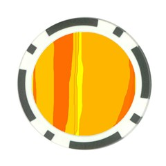 Yellow and orange lines Poker Chip Card Guards (10 pack)