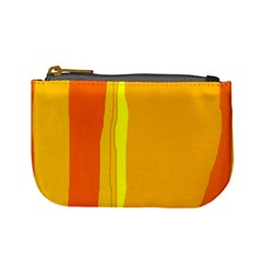Yellow and orange lines Mini Coin Purses