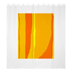 Yellow and orange lines Shower Curtain 66  x 72  (Large)
