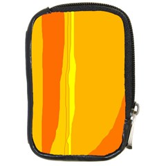 Yellow and orange lines Compact Camera Cases