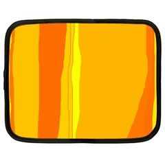 Yellow and orange lines Netbook Case (XL)