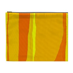 Yellow and orange lines Cosmetic Bag (XL)