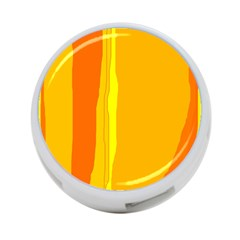 Yellow and orange lines 4-Port USB Hub (Two Sides)