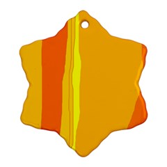 Yellow and orange lines Snowflake Ornament (2-Side)