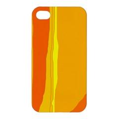 Yellow and orange lines Apple iPhone 4/4S Hardshell Case