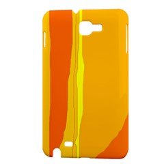 Yellow and orange lines Samsung Galaxy Note 1 Hardshell Case