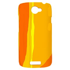 Yellow and orange lines HTC One S Hardshell Case
