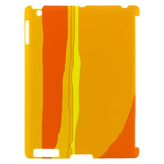 Yellow and orange lines Apple iPad 2 Hardshell Case (Compatible with Smart Cover)