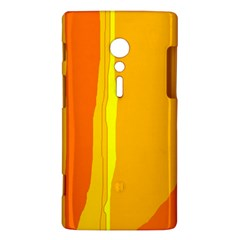 Yellow and orange lines Sony Xperia ion