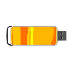 Yellow and orange lines Portable USB Flash (One Side)