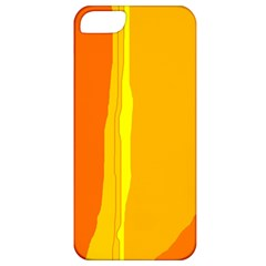 Yellow and orange lines Apple iPhone 5 Classic Hardshell Case