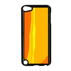 Yellow and orange lines Apple iPod Touch 5 Case (Black)