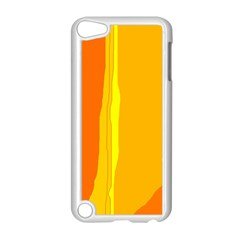 Yellow and orange lines Apple iPod Touch 5 Case (White)