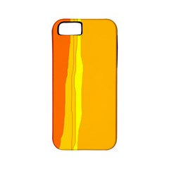 Yellow and orange lines Apple iPhone 5 Classic Hardshell Case (PC+Silicone)
