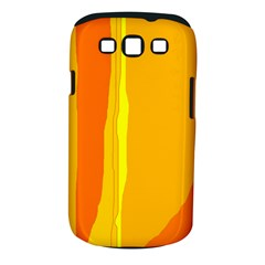 Yellow and orange lines Samsung Galaxy S III Classic Hardshell Case (PC+Silicone)