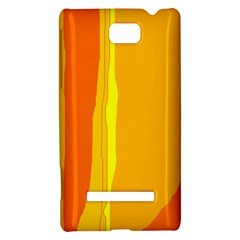 Yellow and orange lines HTC 8S Hardshell Case