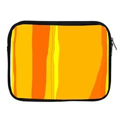 Yellow and orange lines Apple iPad 2/3/4 Zipper Cases