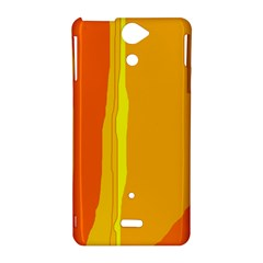 Yellow and orange lines Sony Xperia V