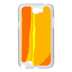 Yellow and orange lines Samsung Galaxy Note 2 Case (White)