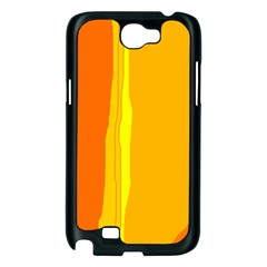 Yellow and orange lines Samsung Galaxy Note 2 Case (Black)