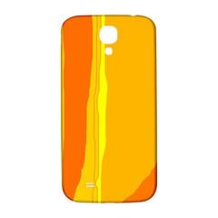 Yellow and orange lines Samsung Galaxy S4 I9500/I9505  Hardshell Back Case