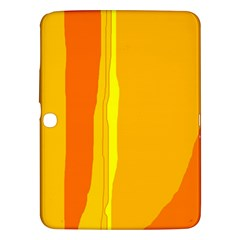 Yellow and orange lines Samsung Galaxy Tab 3 (10.1 ) P5200 Hardshell Case