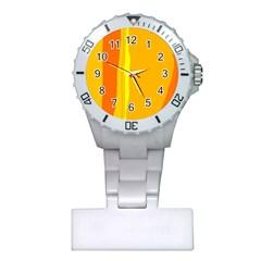 Yellow and orange lines Plastic Nurses Watch