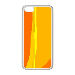 Yellow and orange lines Apple iPhone 5C Seamless Case (White)