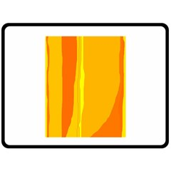 Yellow and orange lines Double Sided Fleece Blanket (Large)