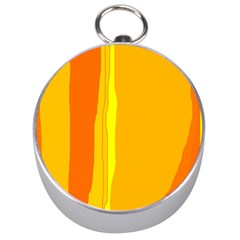 Yellow and orange lines Silver Compasses