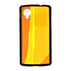 Yellow and orange lines Nexus 5 Case (Black)