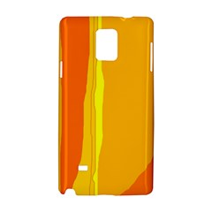 Yellow and orange lines Samsung Galaxy Note 4 Hardshell Case