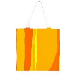 Yellow and orange lines Grocery Light Tote Bag