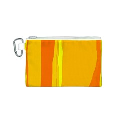 Yellow and orange lines Canvas Cosmetic Bag (S)