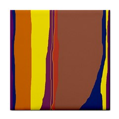 Colorful lines Tile Coasters