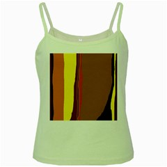 Colorful lines Green Spaghetti Tank
