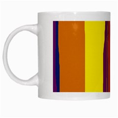 Colorful lines White Mugs