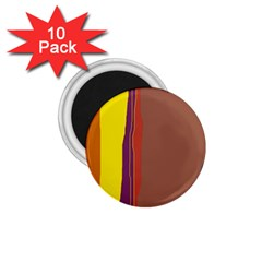 Colorful lines 1.75  Magnets (10 pack)