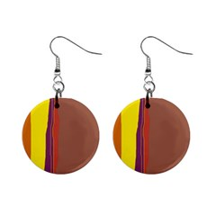 Colorful Lines Mini Button Earrings