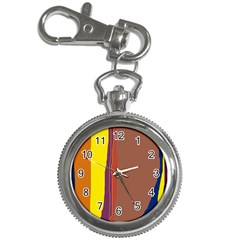 Colorful lines Key Chain Watches