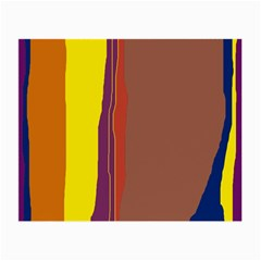 Colorful lines Small Glasses Cloth