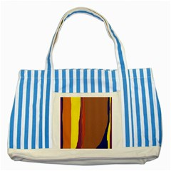 Colorful lines Striped Blue Tote Bag