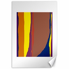 Colorful lines Canvas 20  x 30