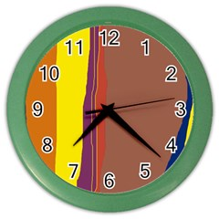 Colorful lines Color Wall Clocks